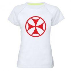 Женская спортивная футболка Грузинский Крест - FatLine