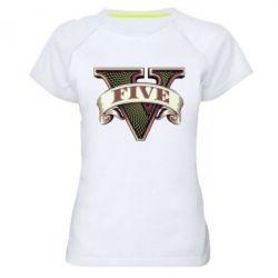 Женская спортивная футболка GTA 5 3D Logo - FatLine
