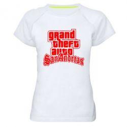 Женская спортивная футболка GTA San Andreas - FatLine