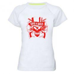 Женская спортивная футболка Guns n' Roses Logo - FatLine