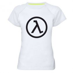 Женская спортивная футболка Half Life Logo