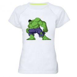 Женская спортивная футболка Халк - FatLine