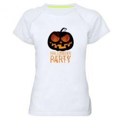 Женская спортивная футболка Halloween Party - FatLine