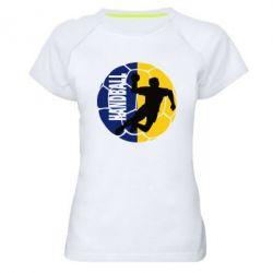 Женская спортивная футболка Handball Logo - FatLine