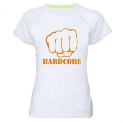 Женская спортивная футболка hardcore - FatLine