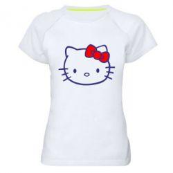 Женская спортивная футболка Hello Kitty logo - FatLine