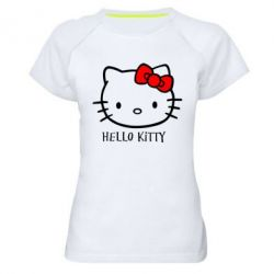 Женская спортивная футболка Hello Kitty - FatLine
