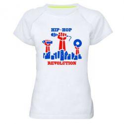 Женская спортивная футболка Hip-hop revolution