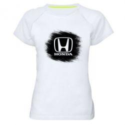 Женская спортивная футболка Хонда арт, Honda art - FatLine