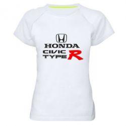 Женская спортивная футболка Honda Civic Type R - FatLine