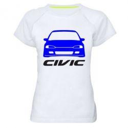 Женская спортивная футболка Honda Civic - FatLine