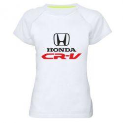 Женская спортивная футболка Honda CR-V - FatLine