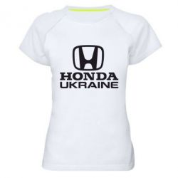 Женская спортивная футболка Honda Ukraine - FatLine
