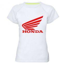 Женская спортивная футболка Honda - FatLine