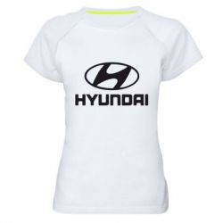 Женская спортивная футболка Hyundai Small - FatLine