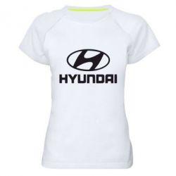 Женская спортивная футболка HYUNDAI - FatLine