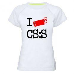 Женская спортивная футболка I love CS Source - FatLine