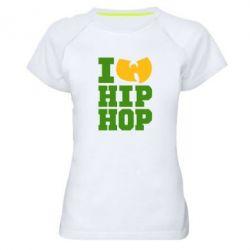 Женская спортивная футболка I love Hip-hop Wu-Tang - FatLine