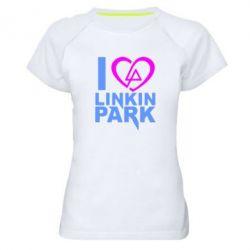 Женская спортивная футболка I love LP - FatLine
