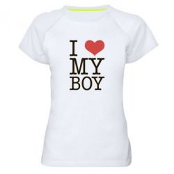 Женская спортивная футболка I love my - FatLine