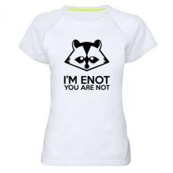 Женская спортивная футболка I'm ENOT - FatLine