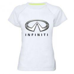 Женская спортивная футболка Infinity Logo 3D - FatLine