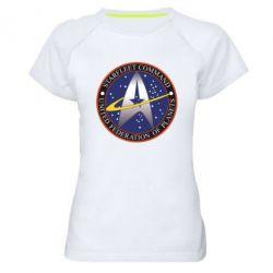 Женская спортивная футболка Inited Federation of Planets - FatLine