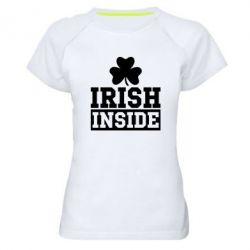 Женская спортивная футболка Irish Inside