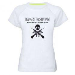 Женская спортивная футболка Iron Maiden - FatLine