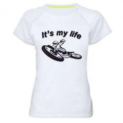 Женская спортивная футболка It's my moto life - FatLine