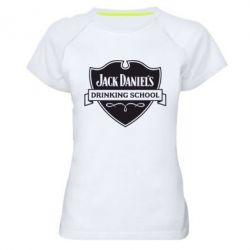 Женская спортивная футболка Jack Daniel's Drinkin School - FatLine