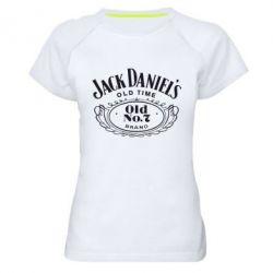 Женская спортивная футболка Jack Daniel's Old Time - FatLine