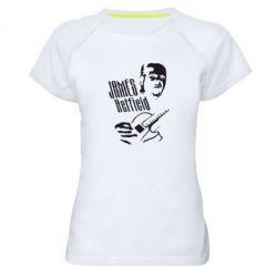 Женская спортивная футболка James Hetfield - FatLine