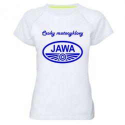Женская спортивная футболка Java Cesky Motocyclovy - FatLine