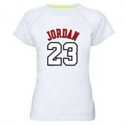 Женская спортивная футболка Jordan 23 - FatLine