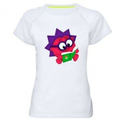Женская спортивная футболка Ёжик