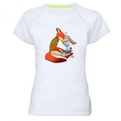 Женская спортивная футболка Judy and Nick Love - FatLine