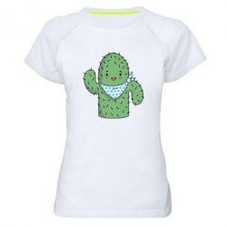 Женская спортивная футболка Кактус