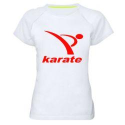 Женская спортивная футболка Karate - FatLine
