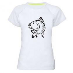 Женская спортивная футболка Карп - FatLine