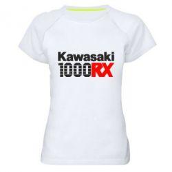 Женская спортивная футболка Kawasaki 1000RX
