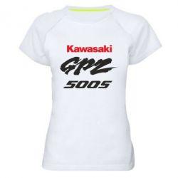 Женская спортивная футболка Kawasaki GPZ500S - FatLine