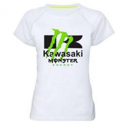 Женская спортивная футболка Kawasaki Monster Energy - FatLine