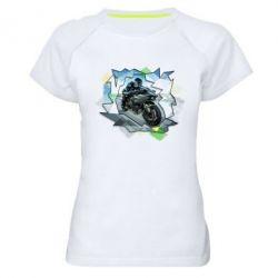 Купить Женская спортивная футболка Kawasaki Ninja Art, FatLine
