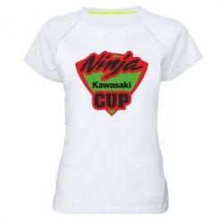 Женская спортивная футболка Kawasaki Ninja Cup - FatLine