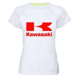 Женская спортивная футболка Kawasaki - FatLine