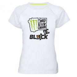 Женская спортивная футболка Ken Block Monster Energy