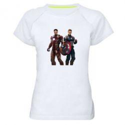 Женская спортивная футболка Кэп и Тони