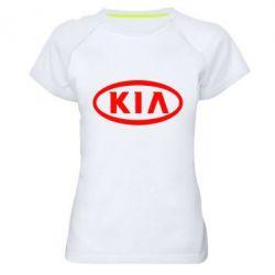 Женская спортивная футболка KIA Small - FatLine