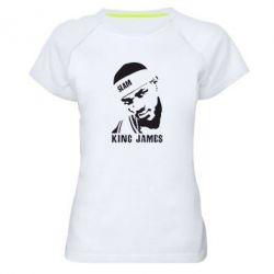 Женская спортивная футболка King James - FatLine